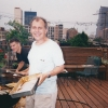 Submitted by P. Heuveline: Frank Furstenberg and Chris Weiss, BBQ on Frank's rooftop, summer 1998